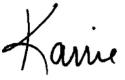 karrie signature