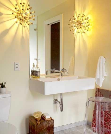 Bathroom Light Fixture Humming: Dreamy Little Bathrooms, Part 2: Chandeliers, Sconces And