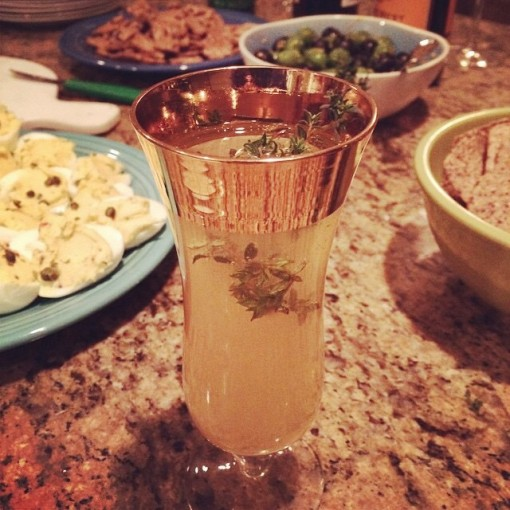 Pear and Thyme Mimosas | Covet Living Bachelor Recap