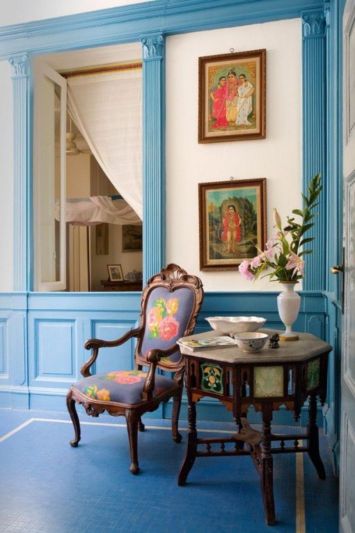 Perfect Blue, Lisa Corti's Milan Apt | Covet Living