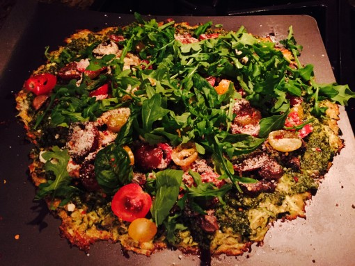 Zucchini crust pizza | Covet Living