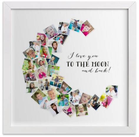 Minted I Love You To The Moon and Back print