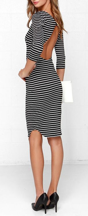 Striped Midi Dress :: Currently Loving :: Covet Living