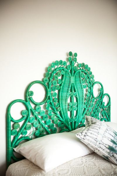 Green Peacock Headboard | Covet Living