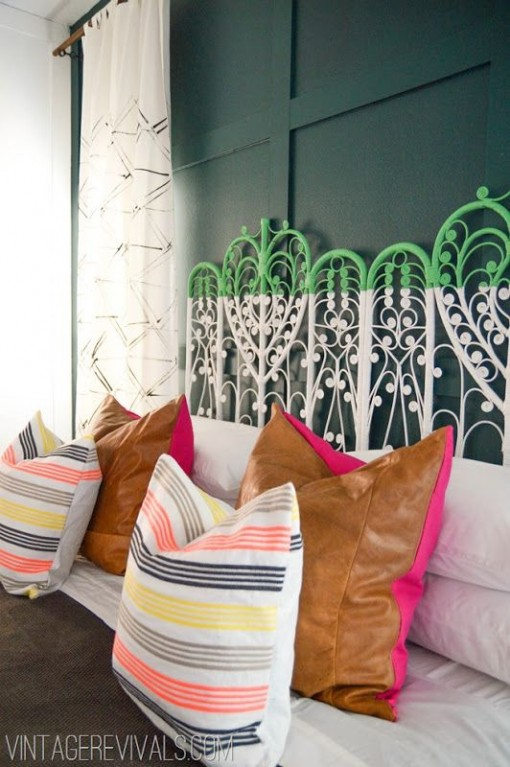 Green and White Peacock Headboard | Covet Living