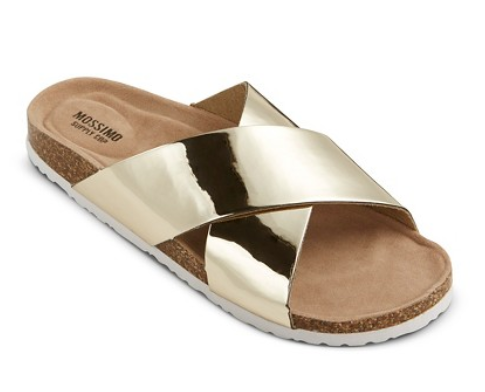 Mossimo Footbed Sandals in Gold | Target | Covet Living