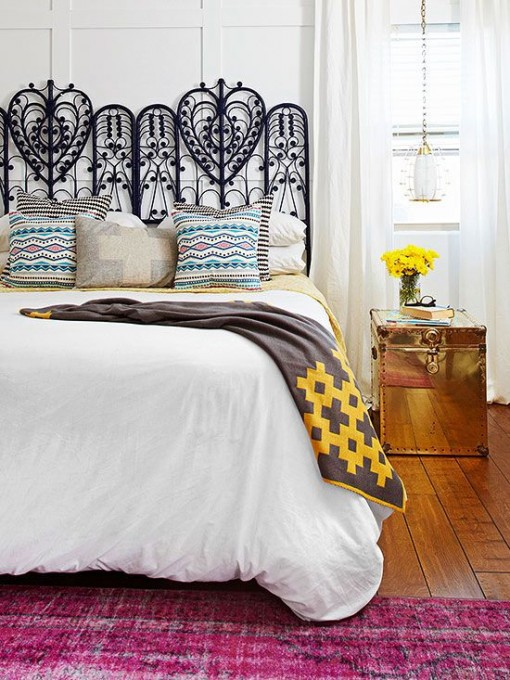 Navy Wicker Headboard via BHG | Covet Living