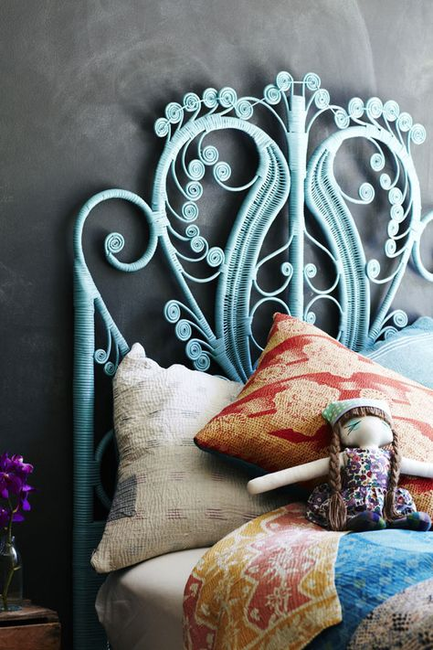 Peacock Headboard in Blue | Covet Living