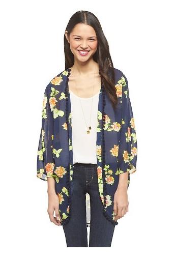 Pom Pom Kimono Jacket