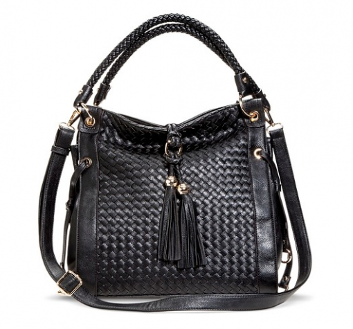 Women's Woven Hobo Handbag with Tassels at Target | Covet Living