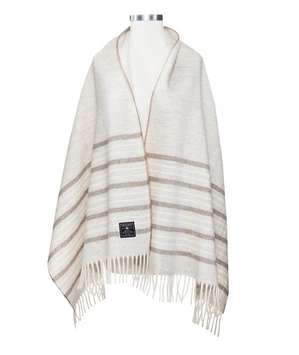 Wool Shawl - Prairie Stripe