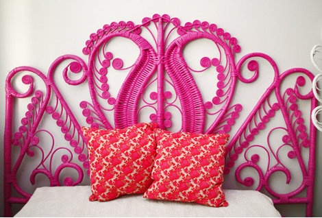 Hot PInk Headboard via Oh Joy | Covet Living