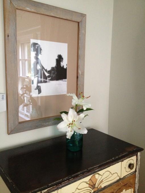 Antique Dresser and Barnwood Frame