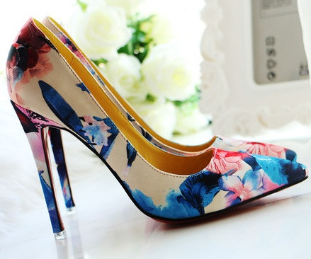 Red Soles Flowers of Paradise Heels | Covet Living