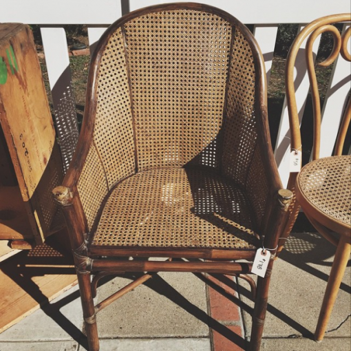 vintage cane chair - rare bird