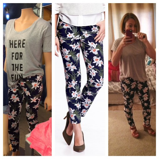 Pixie Ankle Pants in Blue Floral | Covet Living