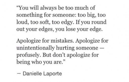 Don't Apologize | Covet Living
