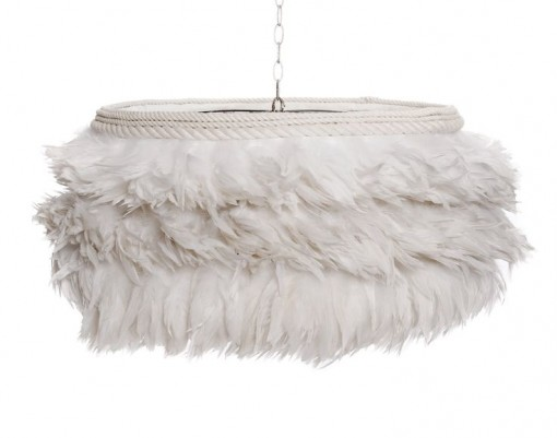 Grace and Blacke White Feather Lamp | Covet Living
