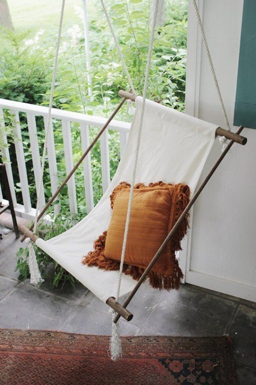 Porch Swing via Apartment Therapy | Covet Living