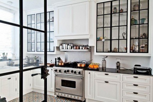 Saturday Morning | Black Paned Cabinet Doors | Covet Living
