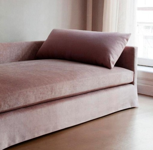 Dmitriy & Co Chelsea Square Sofa in Pink Velvet | Covet Living