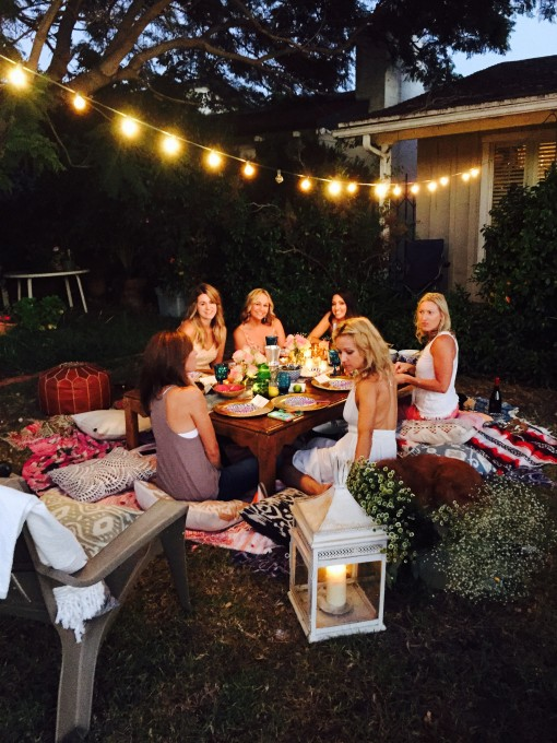 boho yard party | covet living