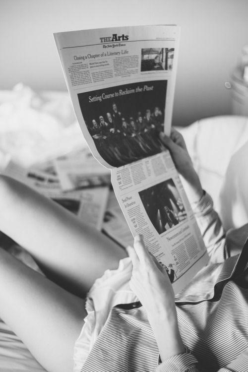 Reading the Newspaper | Covet Living