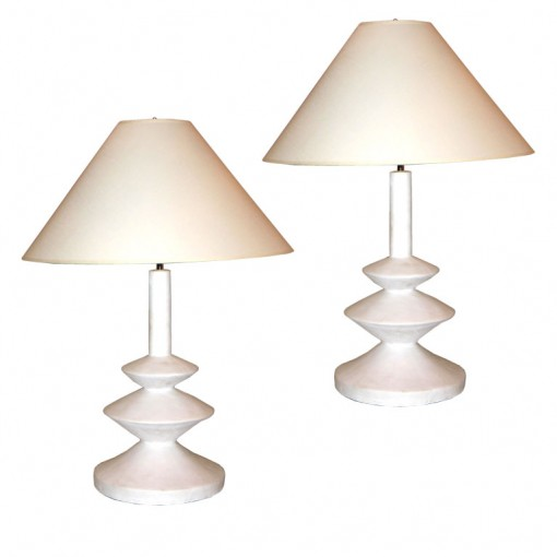 french plaster lamps via 1st dibs | covet living