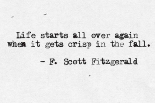 F. Scott Fitzgerald Quote | Covet Living