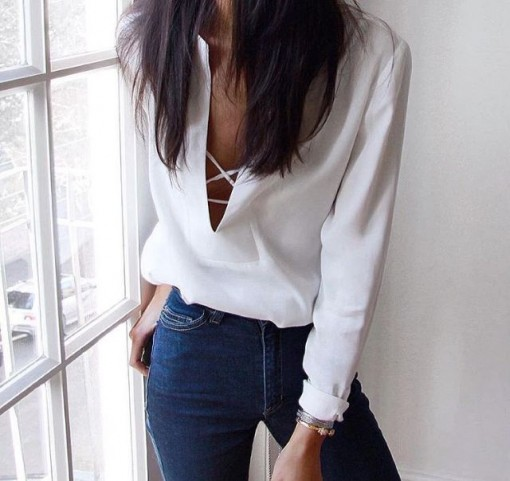 White Blouse and Jeans | Covet Living