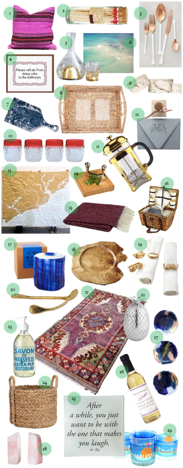Covet Living Holiday Gift Guide for the Home 2015