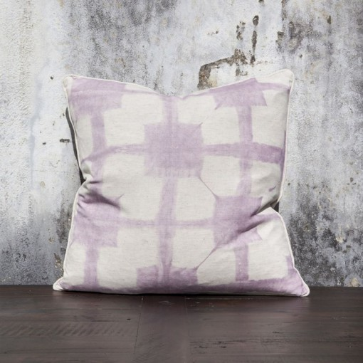 Wisteria tie dye pillow, Celadon | Covet Living