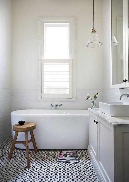 Black and White TIle Floor | Covet Living