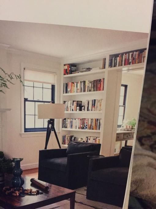 Bookshelves separating rooms | Casa Karrie & Tim | Covet Living