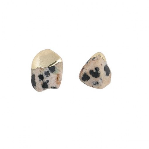 Gold Dipped Dalmation Earrings