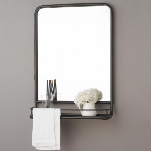 Metal Mirror with Shelf | Covet Living