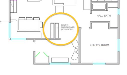 Built-In Bookshelves | Casa Karrie & Tim | Covet Living