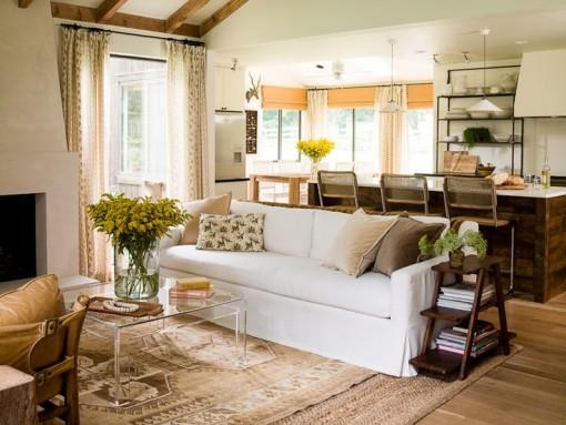 Sofa butts to island | Casa Karrie & Tim | Covet Living