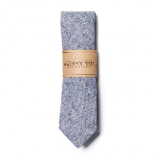 chambray skinny tie