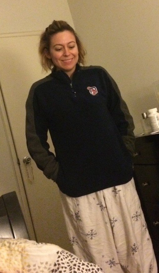 Karrie in her PJs