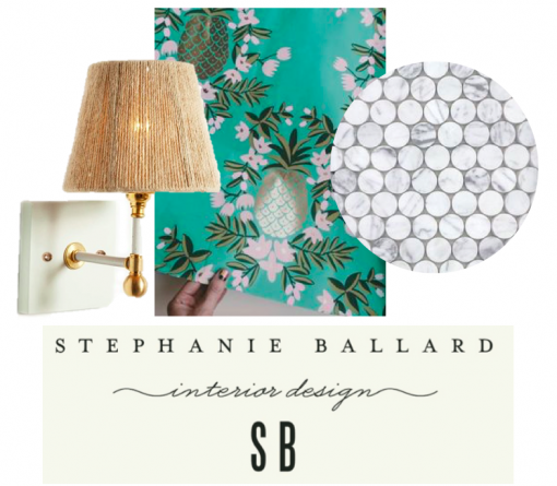 Casa Covet Living | Hall Bath | Stephanie Ballard Interiors