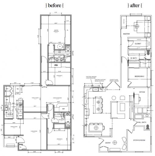 Casa Covet Living | Floorplan Before & After | Stephanie Ballard Interiors