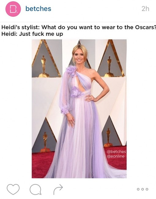 Heidi Klum via @betches