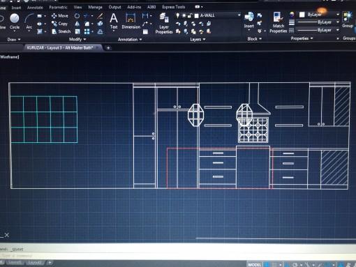 casa covet living   kitchen CAD drawing