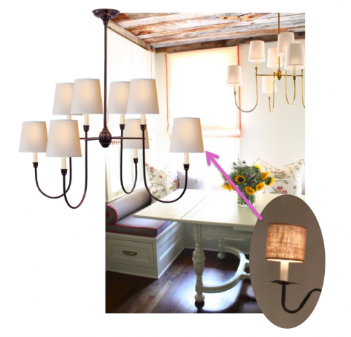 casa covet living   dining room nook chandelier