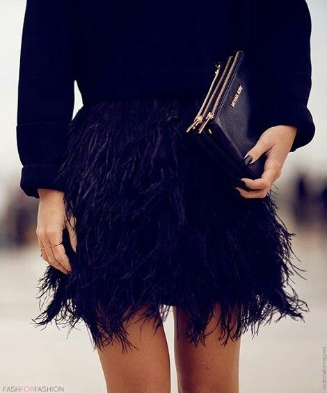 black feather skirt | covet living
