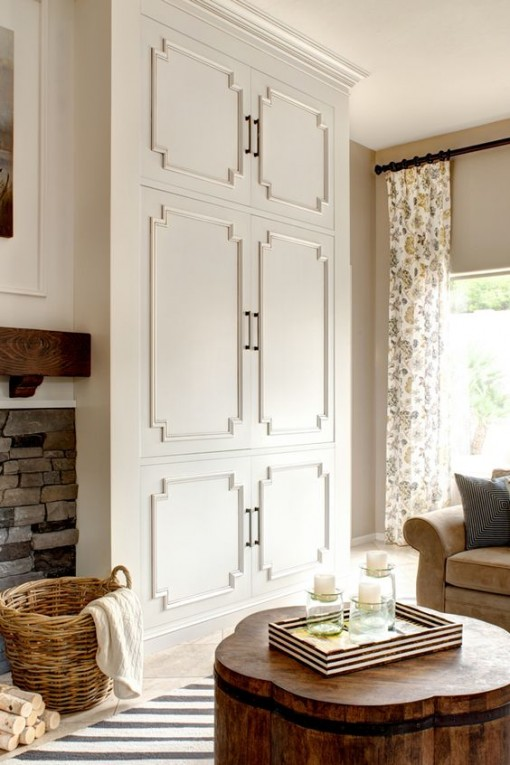 cabinet door molding | covet living