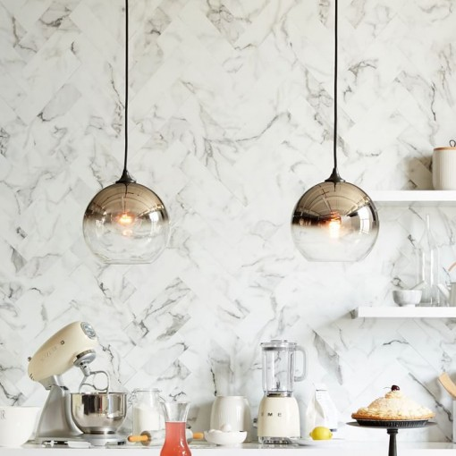 west elm mirrored ombre pendant