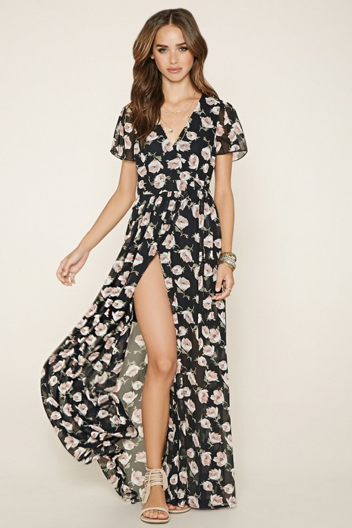 Floral Print Maxi Dress - Forever21
