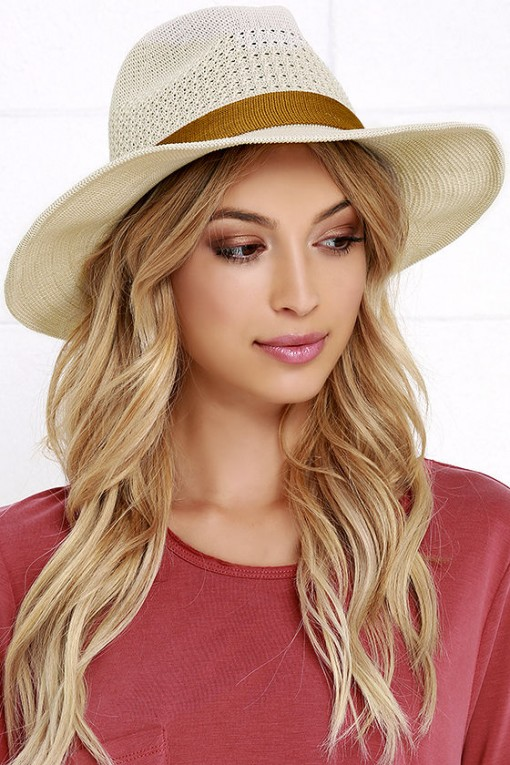 Lulu Shady Palms Beige Hat